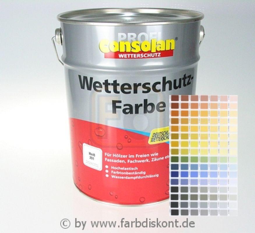 consolan wetterschutzfarbe werkst nung 10 ltr. Black Bedroom Furniture Sets. Home Design Ideas