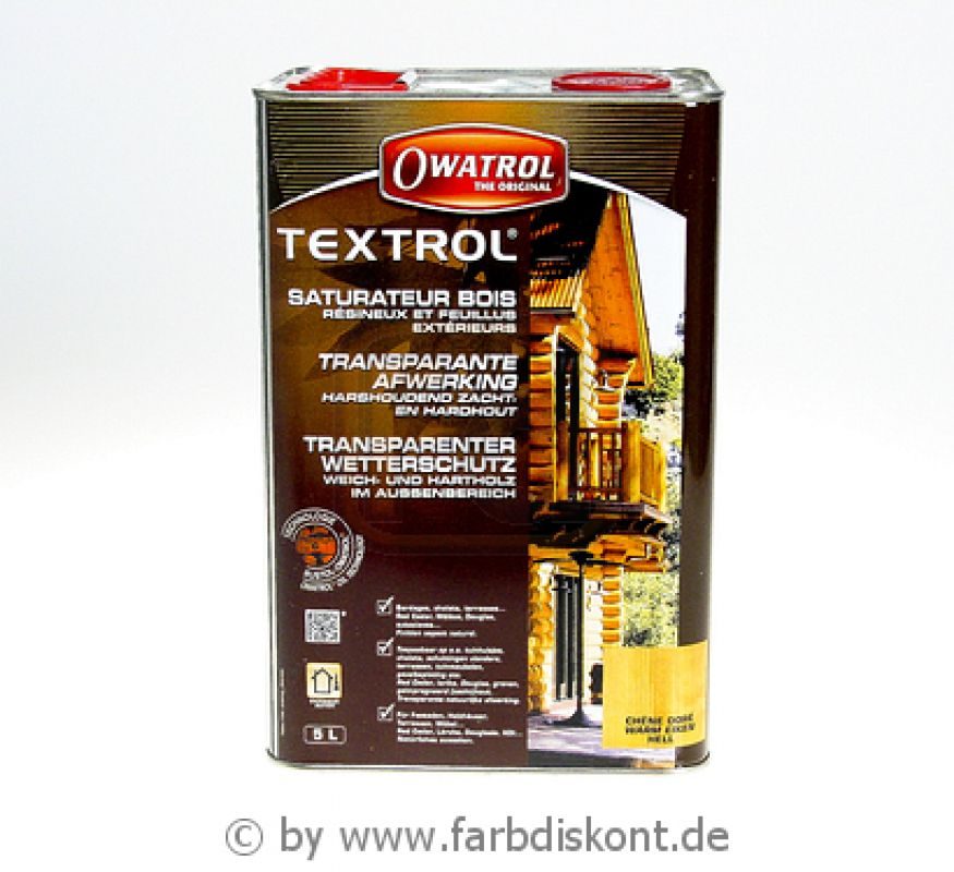 owatrol textrol holz l f r au en mit uv schutz 5 ltr farblos. Black Bedroom Furniture Sets. Home Design Ideas