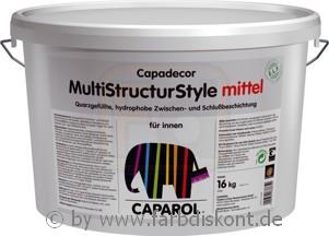 caparol multi structur style mittel 16 kg streichputz ebay. Black Bedroom Furniture Sets. Home Design Ideas
