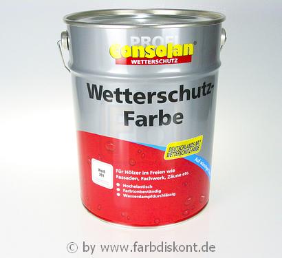 consolan wetterschutzfarbe 10 ltr wei ebay. Black Bedroom Furniture Sets. Home Design Ideas
