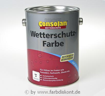 consolan wetterschutzfarbe 2 5ltr wei ebay. Black Bedroom Furniture Sets. Home Design Ideas