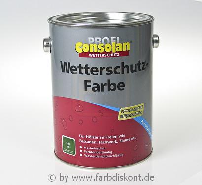 consolan wetterschutzfarbe 2 5ltr gr n. Black Bedroom Furniture Sets. Home Design Ideas