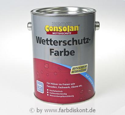 consolan wetterschutzfarbe 2 5ltr silbergrau ebay. Black Bedroom Furniture Sets. Home Design Ideas