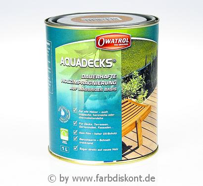 owatrol aquadecks 1 ltr miel honey f r au en mit uv schutz ebay. Black Bedroom Furniture Sets. Home Design Ideas